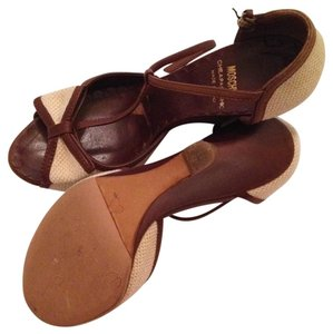 Moschino brown Wedges