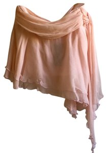 Guess Collection Pink Flowy Silk Mini Skirt Soft Pink