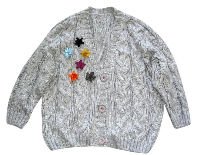 Preload https://item1.tradesy.com/images/grey-oversized-cocoon-style-cardigan-size-4-s-11849155-0-1.jpg?width=400&height=650