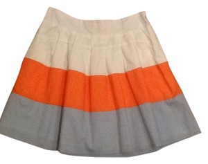 Francesca's Mini Skirt Cream, orange, light blue
