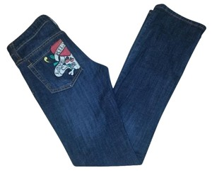 Ed Hardy Christian Audigier Love Kills Straight Leg Jeans-Dark Rinse