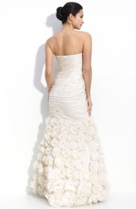 Theia Strapless Rosette Gown Wedding Dress