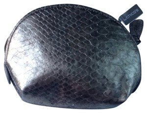 Chico's Chico Bronze Leather Make Up Bag
