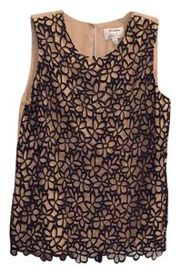 Neiman Marcus Top Black and nude