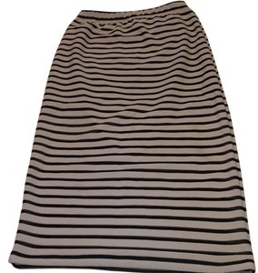 Motel Rocks Skirt Black & White Strips