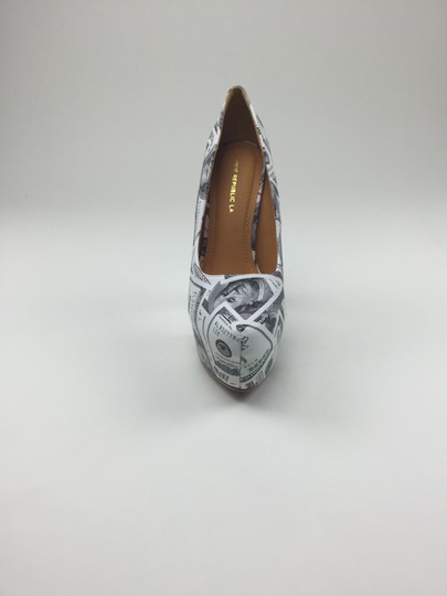 Other Heels Money 100 white, black, green Platforms