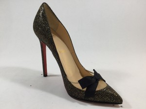 Christian Louboutin Black gold glitter Pumps