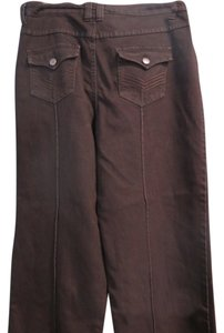 Soft Surroundings Boot Cut Pants chocolate brown -dark