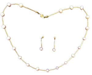 Stone N String Stone N String Fresh Water Pearl Necklace Set choker