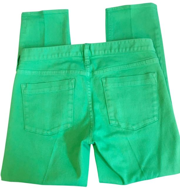 Item - Green Light Wash Lookout High-rise Crop In Skinny Jeans Size 28 (4, S)