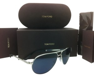 Tom Ford New JAMES BOND 007 SKYFALL TOM FORD Sunglasses MARKO TF 144 18V Silver w/Blue Lenses