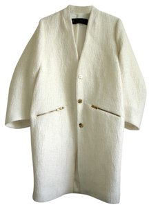 Zara Ivory Boucle Wool Ivory Jackets Coat