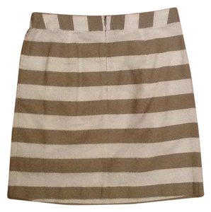 Banana Republic Mini Skirt Tan and white