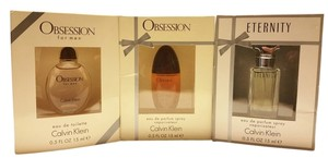 Calvin Klein Calvin Klein Obession for Men 0.5 FL. OZ. 15 ml, Obession for Women 0.5 FL. OZ. 15 ml, Eternity for Men 0. 5 FL. OZ. 15 ml