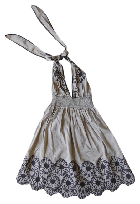 Lucca short dress brown and black Floral on Tradesy