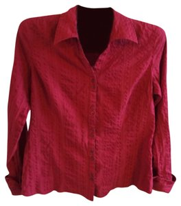 Maurices Button Down Shirt Red
