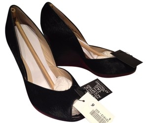 Michael Kors Vail Wedge Calf Hair Black Wedges