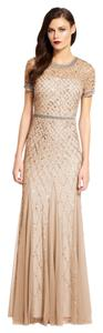Adrianna Papell Beaded Gown Long Dress
