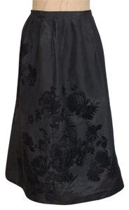 Charter Club Floral Evening Skirt BLACK