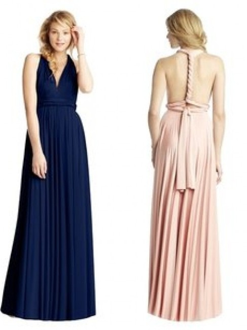 Item - Sapphire Poly/Jersey Blend Classic Ball Gown Modern Bridesmaid/Mob Dress Size OS (one size)