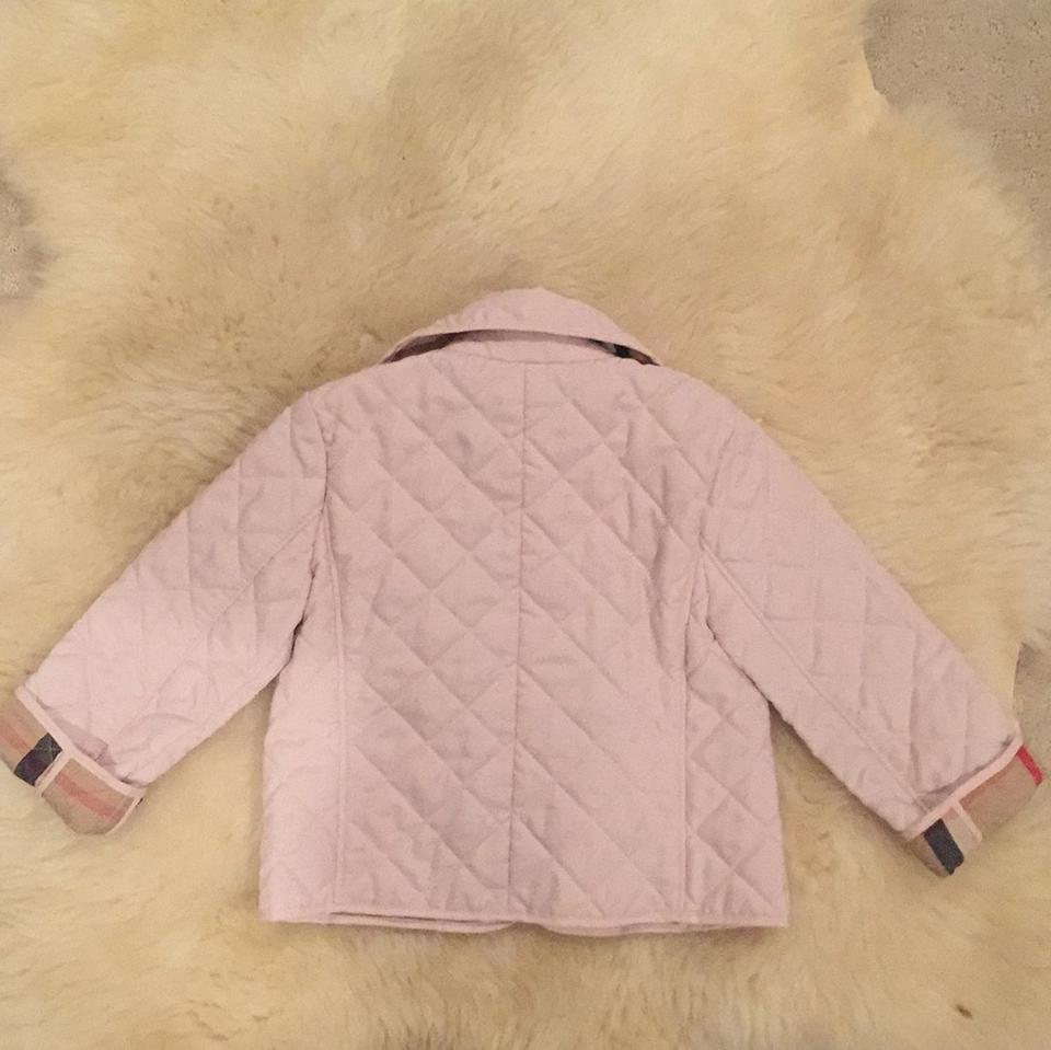 Burberry Pink Children Quilted Jacket Size 2 Xs Tradesy