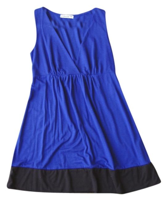 Forever 21 short dress blue and black on Tradesy