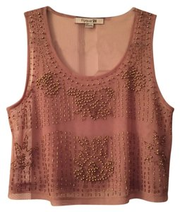 Forever 21 Beaded Top Nude