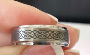 Celtic Knot Tungsten Band Size 12