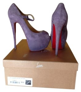 Christian Louboutin Lavender suede Platforms