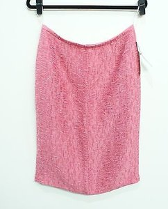 Lafayette 148 New York Straight Skirt Pink