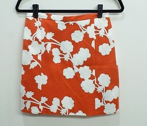 Diane von Furstenberg Dvf Halo Bud Red Clyde Mini Mini Skirt Orange/Red