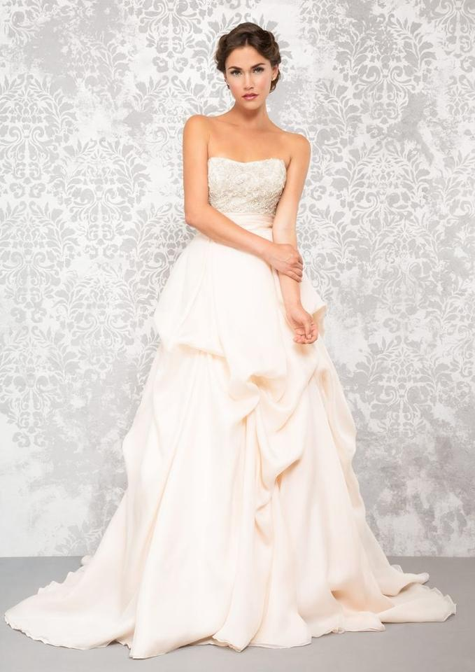 Anne Barge Blush Silk Organza & Cherish Formal Wedding Dress Size 10 ...