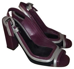 Cole Haan Purple, Black and Silver Platforms