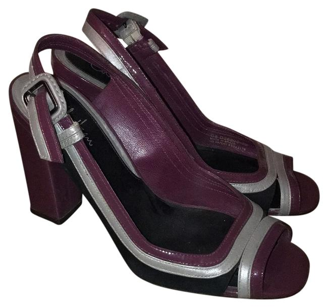 Item - Purple Black and Silver Platforms Size US 7 Regular (M, B)