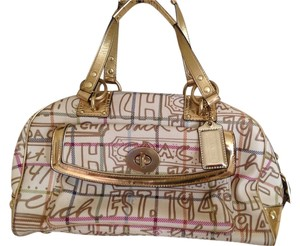 Coach Satchel in Multi Gold