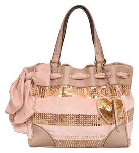 Juicy Couture Satchel in Pink/Gold