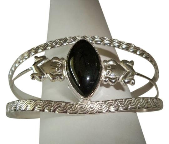 Other Onyx .925 Sterling Silver Adjustable Cuff Bracelet