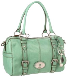 Fossil Maddox Sea Green Satchel in Mint