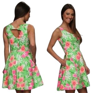 Lilly Pulitzer short dress Green & Pink on Tradesy