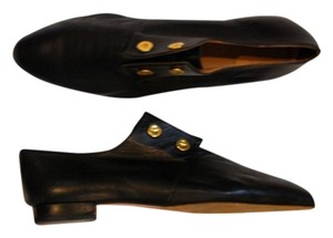 Other Designer Loafers Luxury Menswear Black Leather Flats