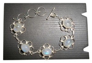 Moonstone and .925 Sterling Silver Bracelet