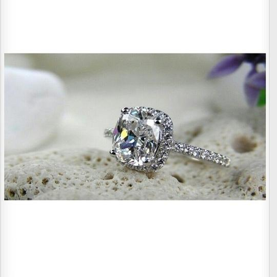 All Sizes In Stock 4 5 6 7 8 Vvs1 3ct Cushion Cut Diamond Pt950 Engagement Ring Image 1