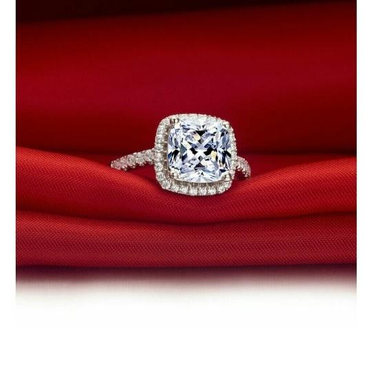 All Sizes In Stock 4 5 6 7 8 Vvs1 3ct Cushion Cut Diamond Pt950 Engagement Ring Image 3