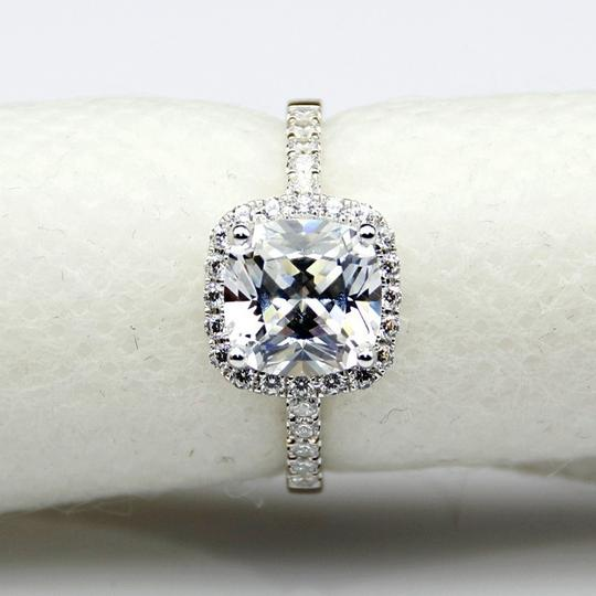All Sizes In Stock 4 5 6 7 8 Vvs1 3ct Cushion Cut Diamond Pt950 Engagement Ring Image 5