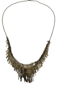 Ann Taylor LOFT Long Fringe Necklace