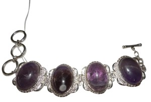 Other Amethyst .925 Sterling Silver Bracelet