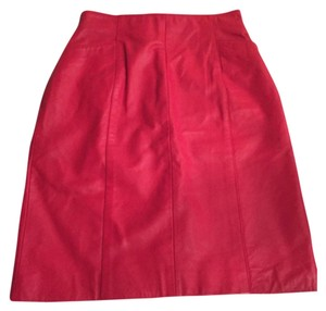 Wilsons Leather Mini Skirt Red