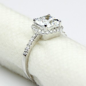 All Sizes Vvs1 3ct Cushion Cut 4 5 6 7 Sona Nscd Diamond Proposal Cushion Square Pt950 Engagement Ring