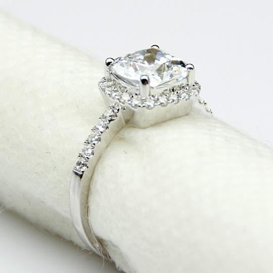 All Sizes Vvs1 3ct Cushion Cut 4 5 6 7 Sona Nscd Diamond Proposal Cushion Square Pt950 Engagement Ring Image 0