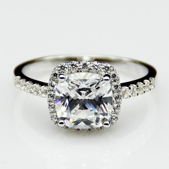 All Sizes Vvs1 3ct Cushion Cut 4 5 6 7 Sona Nscd Diamond Proposal Cushion Square Pt950 Engagement Ring Image 3